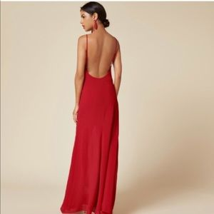 Reformation red dress